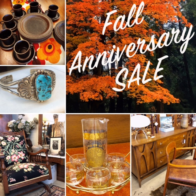 Fall Anniversary SALE starts Saturday Oct. 27th